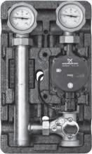 """Насосная группа MK (со смесителем) 1"""" с насосом Grundfos UPS 25-60 подача слева """"Поколение 8"""""""