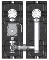 """Насосная группа V-MK (со смесителем, подающая линия слева) V-MK 1"""" с насосом Grundfos UPS 25-60 м """"Поколение 8"""""""