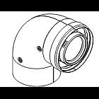 Угловое колено DN60/100 90°