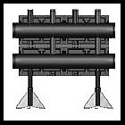 Распределительная гребенка Meibes  из черной стали на 2 контура, тип V150, Victa